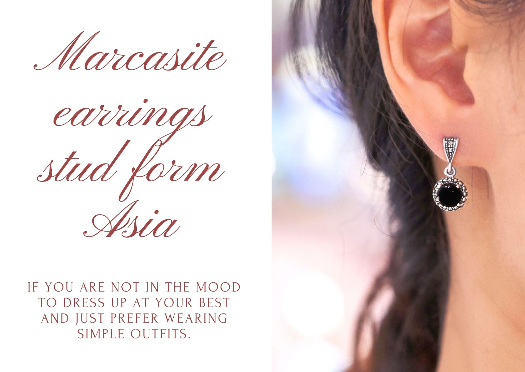 The Marcasite Earrings They go well with any type of look that you style.