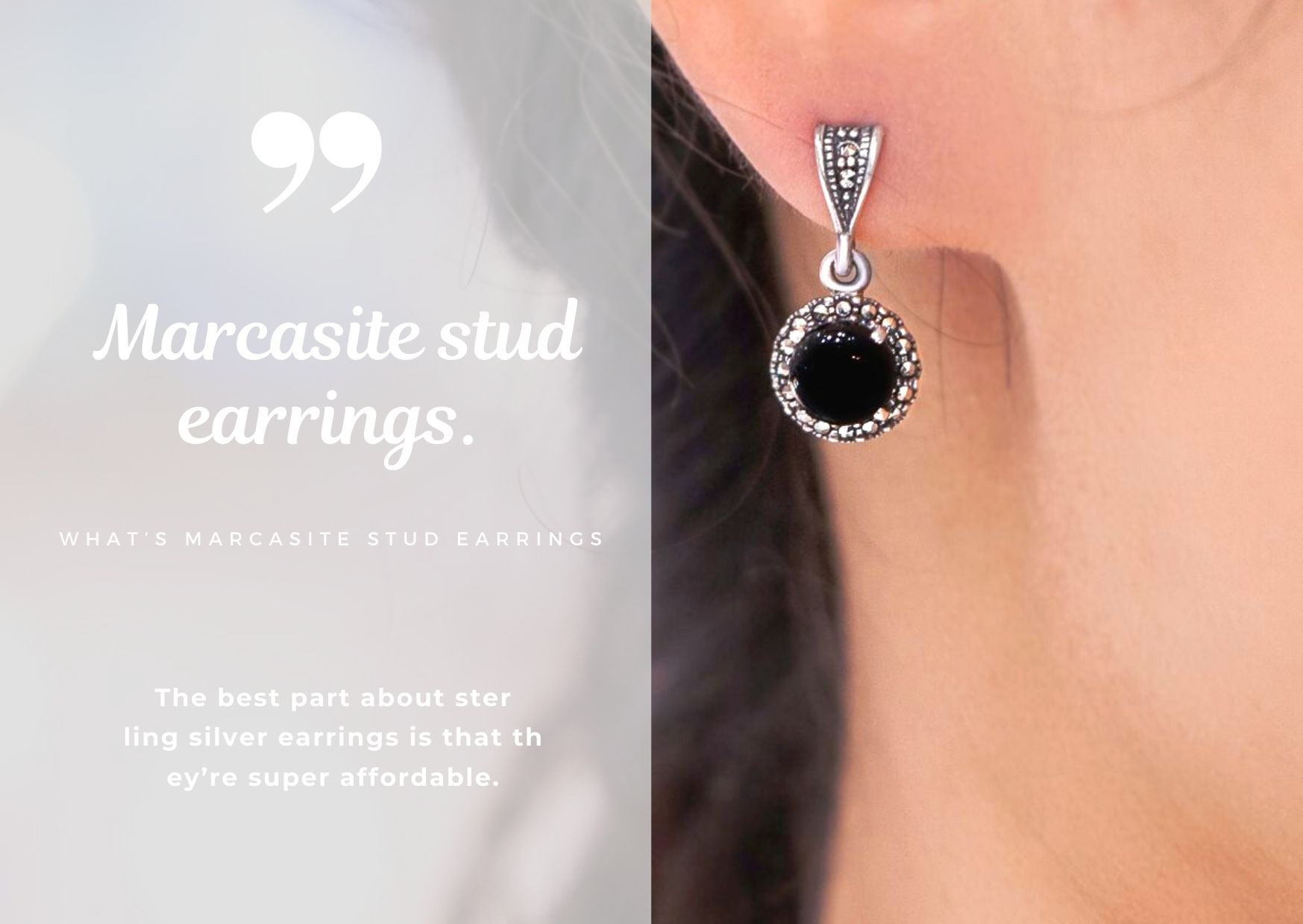 What's marcasite stud earrings.