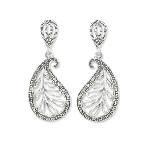 You Should Definitely Invest in These Vintage Marcasite Earrings 02